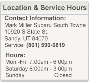Mark Miller Subaru South Towne Service Hours