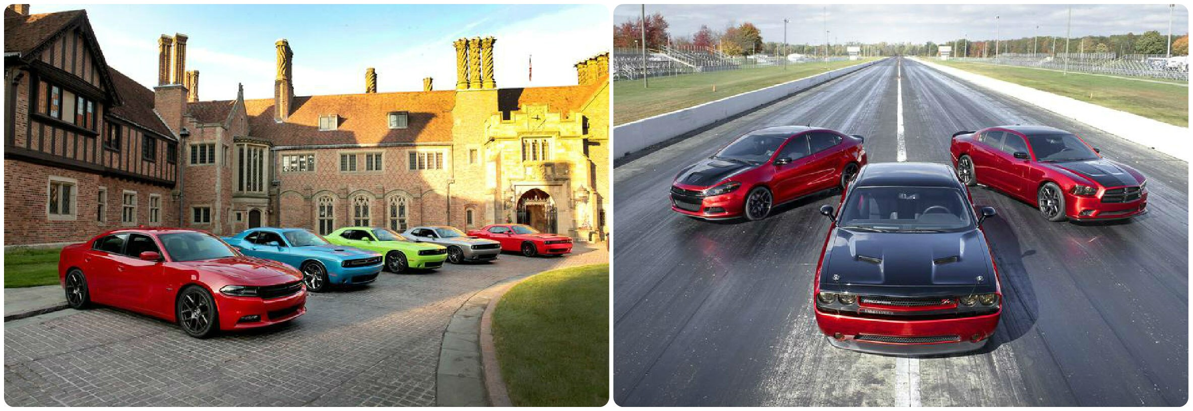 Photo stitch of Dodge performance cars