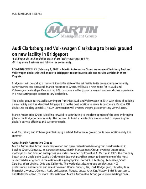Martin Management Group  New Dodge Jeep Volkswagen Kia