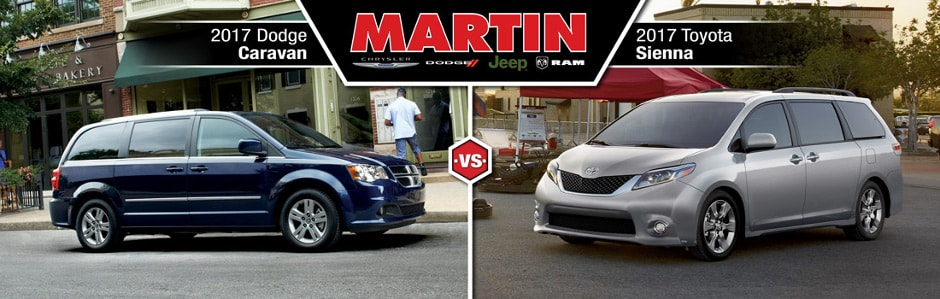 2017 dodge caravan vs 2017 toyota sienna union grove wi martins garage. Black Bedroom Furniture Sets. Home Design Ideas