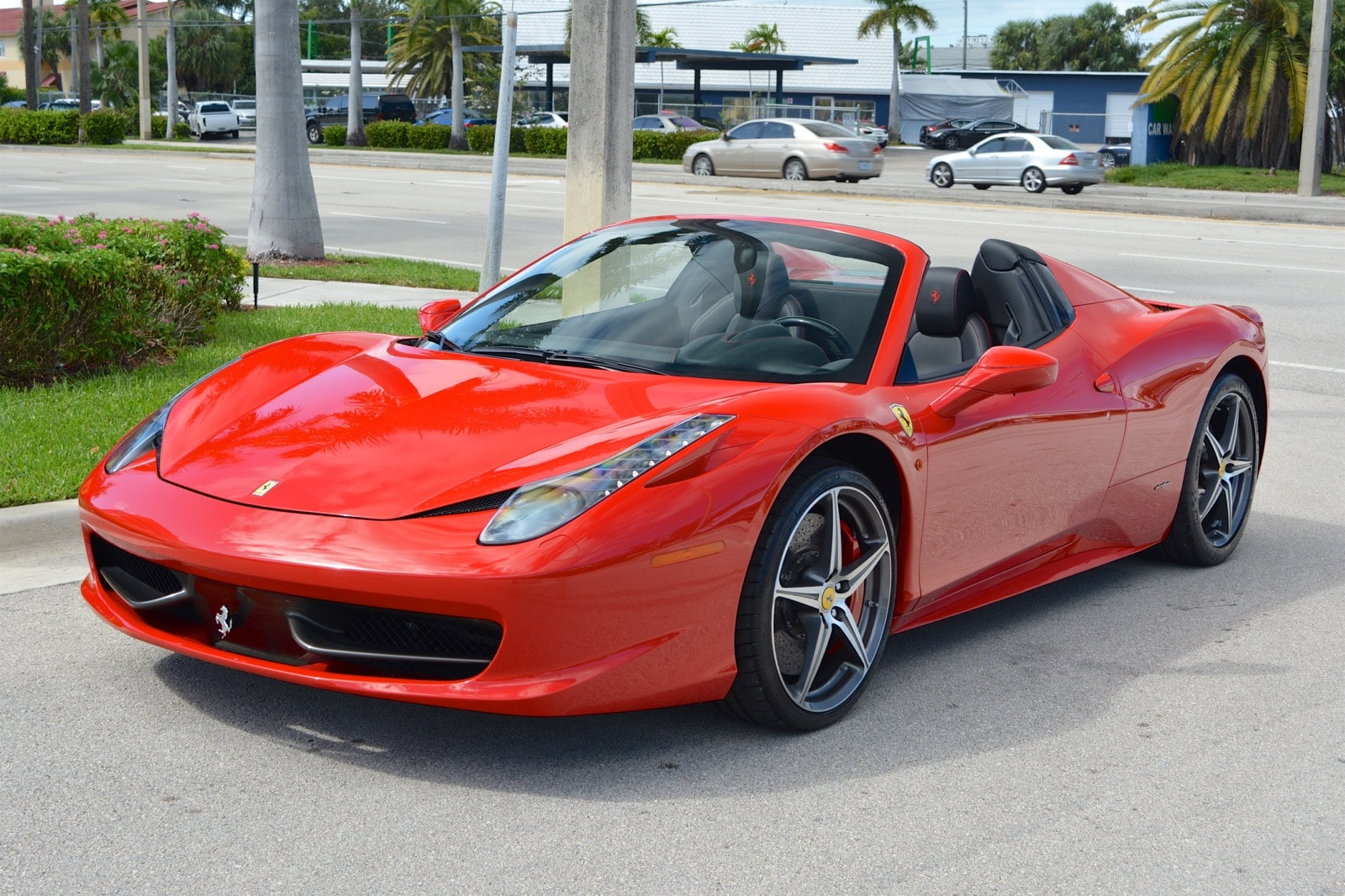 2015 ferrari 458 spider convertible for sale in fort lauderdale fl at. Cars Review. Best American Auto & Cars Review