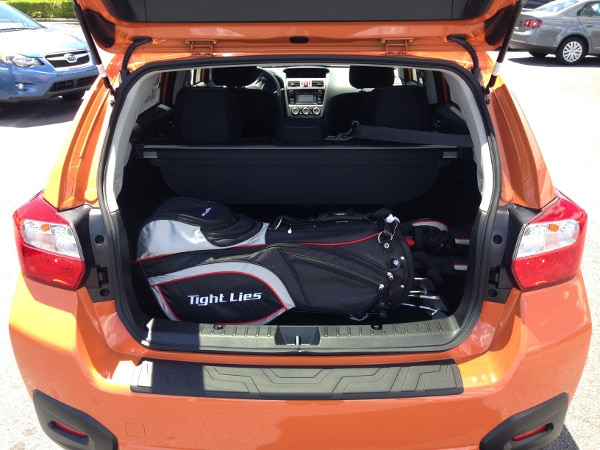Golf clubs in the Subaru Impreza five-door