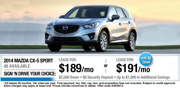 New Mazda Specials In MA Greater Boston Mazda Dealer - Mazda cx 5 lease specials