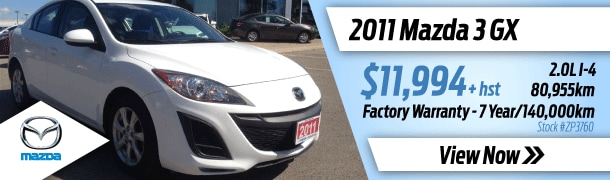 Pre Owned car deals and specials in Brampton, Missisauga and the GTA