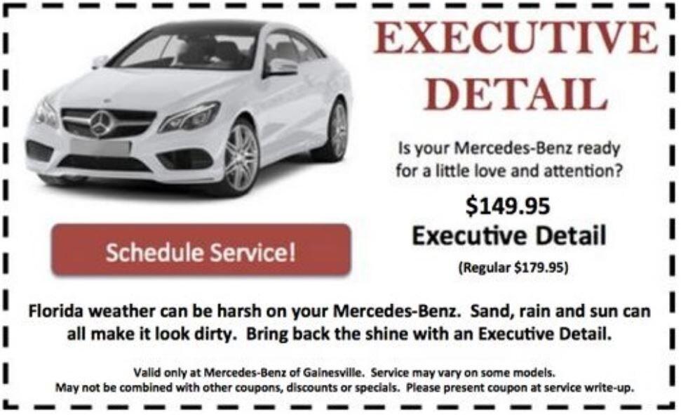 Mercedes benz of gainesville new mercedes benz smart for Mercedes benz service b specials