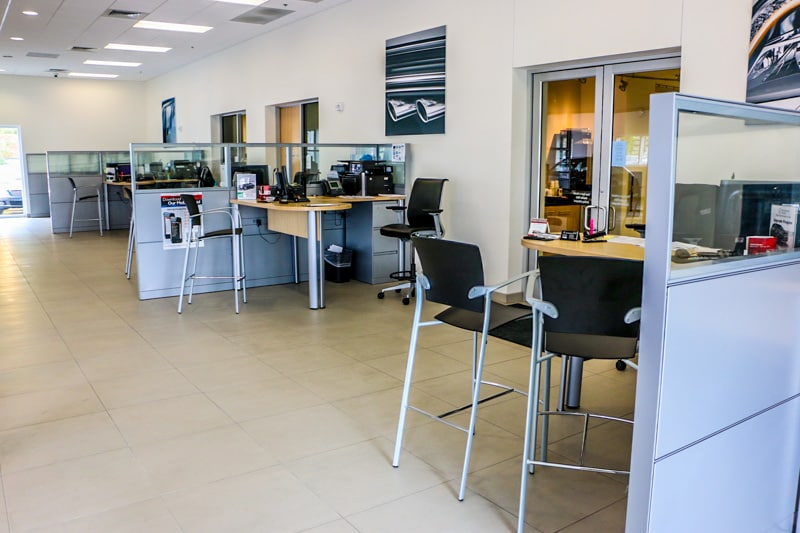Mercedes-Benz of Durham Service Writing Area