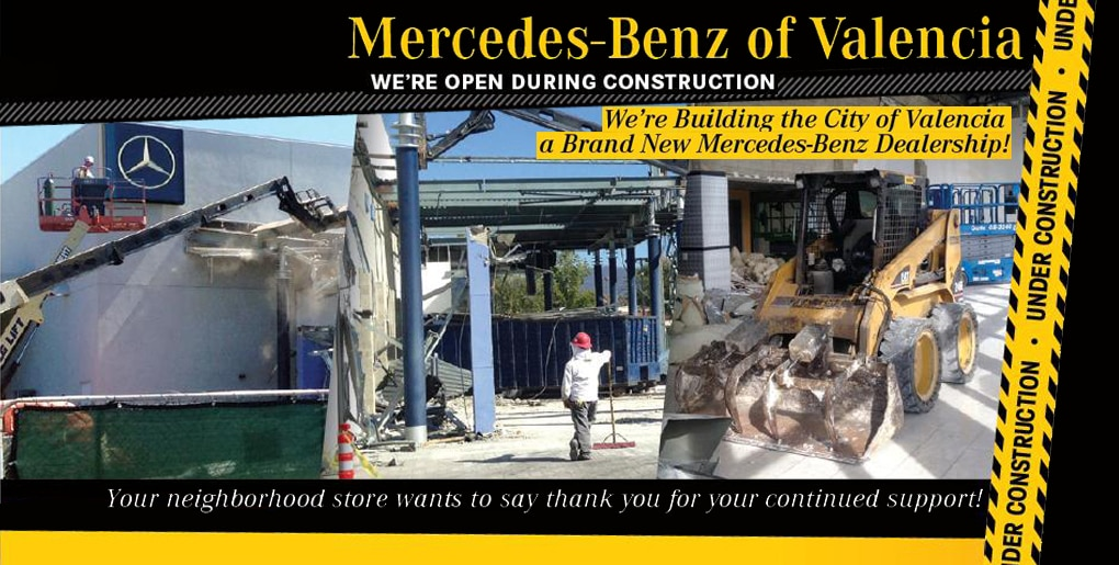 Mercedes benz of valencia los angeles area new used car for Mercedes benz dealers in los angeles area