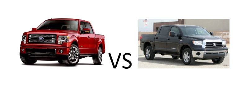 Ford F-150 vs. Toyota Tundra Vehicle Comparison