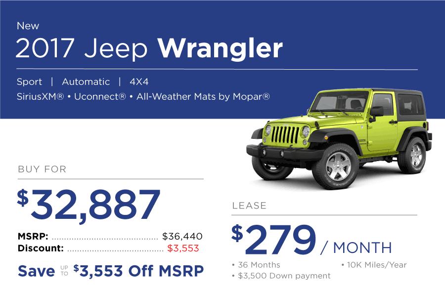 Jeep Wrangler Special Offer