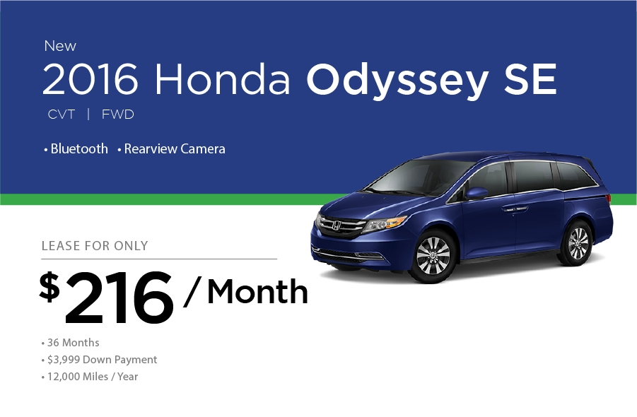 Honda Odyssey Special Offer