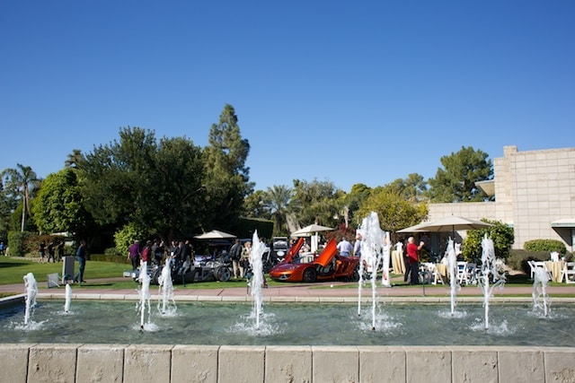 The McLaren Scottsdale display at the Arizona Concours