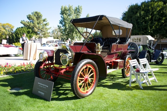 Vintage cars on display at the Concours d'Elegance
