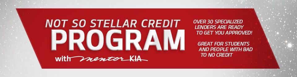 Not So Stellar Program: Bad Credit / No Credit Car Loans  In Mentor, Ohio