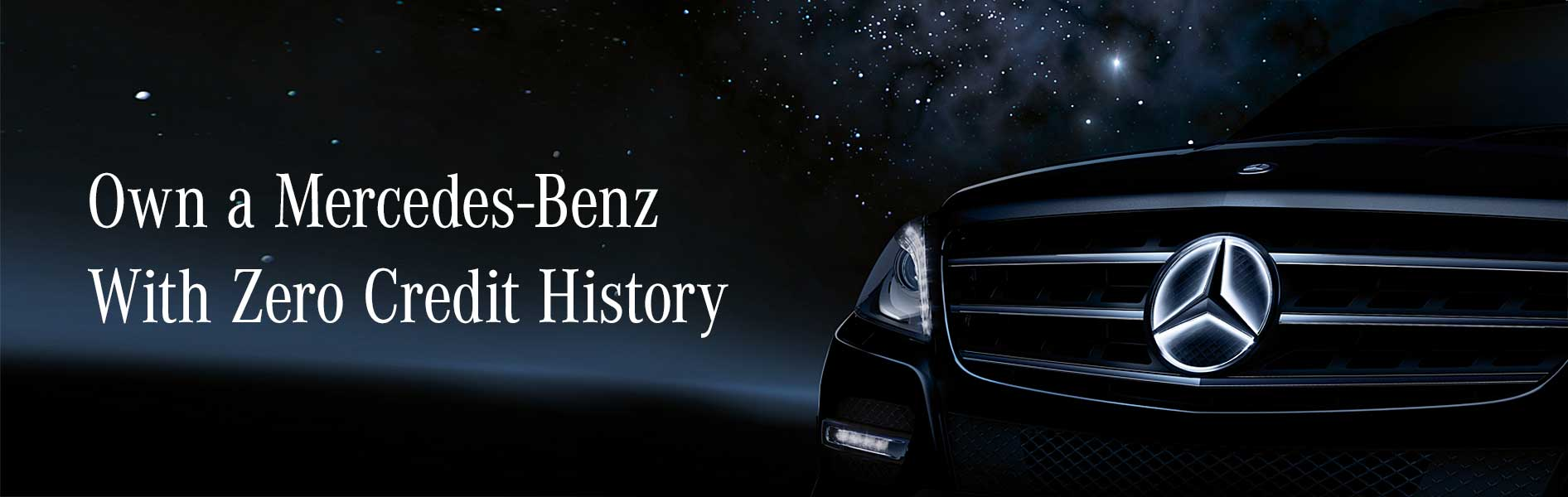 Own a Mercedes-Benz With Zero Credit History