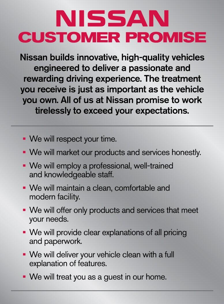 Nissan Customer Promise