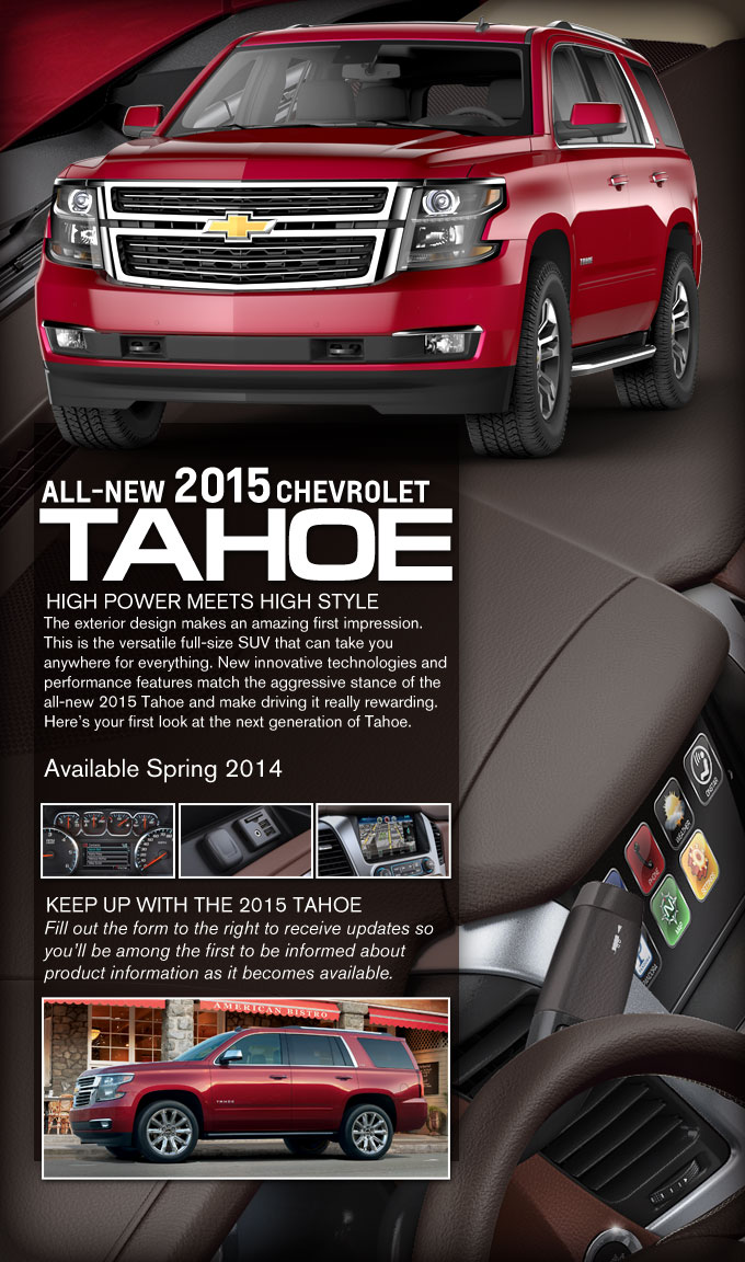 All New 2015 Chevrolet Tahoe Info Arlington Tx Newest