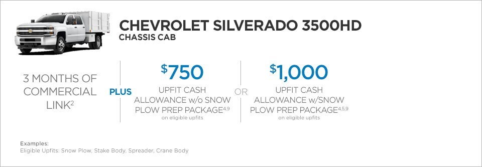 Chevrolet Silverado 3500 Chassis Cab Commercial Incentives