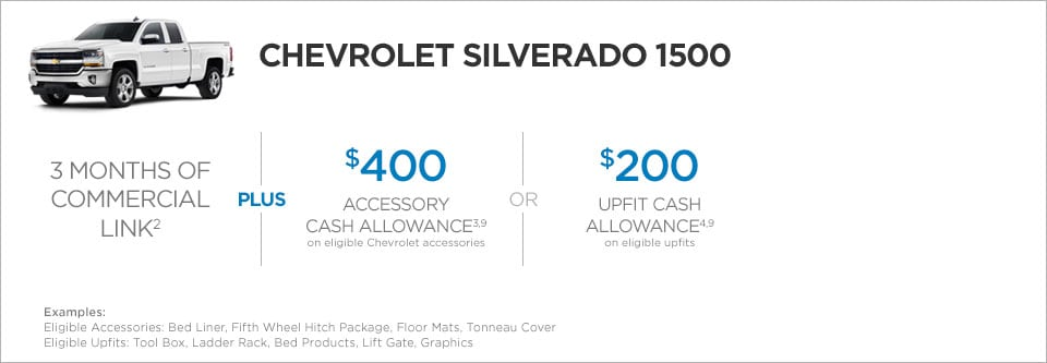 Chevrolet Silverado 1500 Commercial Incentives