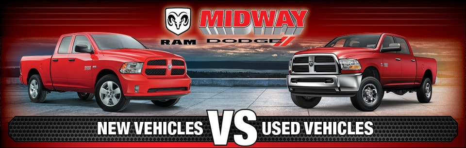 Midway Dodge New vs. Used banner