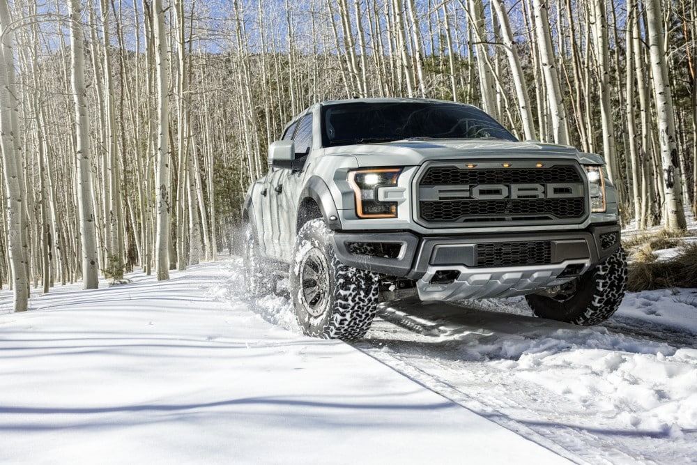 2017 Ford F-150 Raptor in the Snow