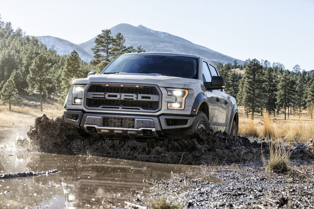 2017 Ford F-150 Raptor Truck in the Mud