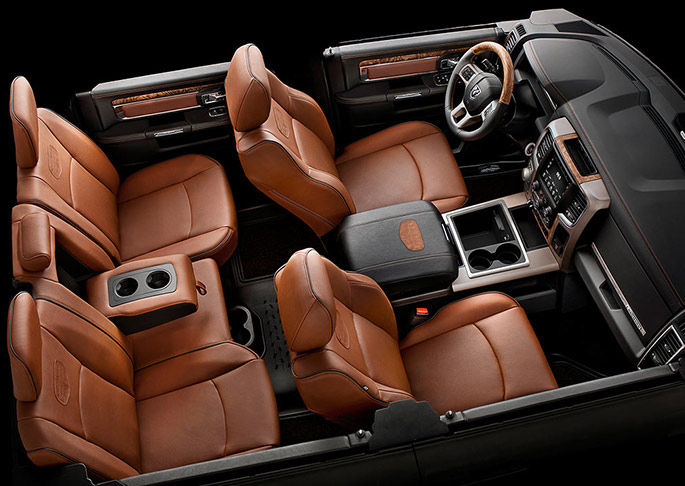 The interior of the 2015 RAM 1500 is comfortable and luxurious