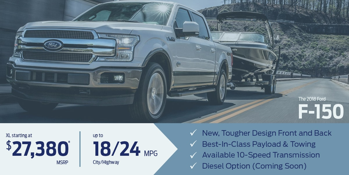 Learn more about the all-new 2018 Ford F-150