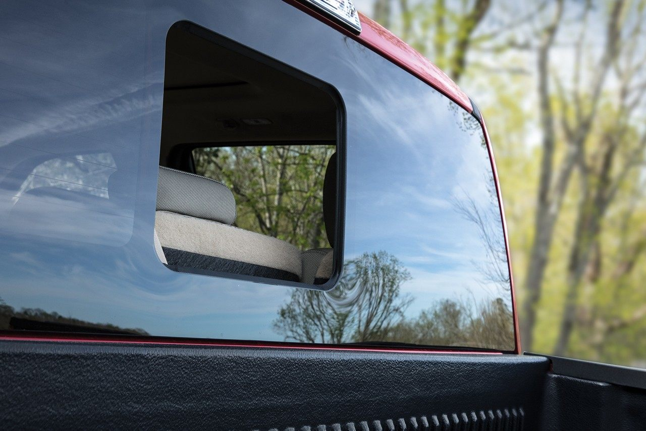 2018 F-150 Power Sliding Glass Rear Window with Privacy Tint and Defroster