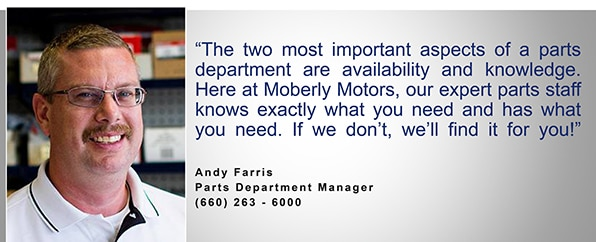 Ford Parts Department Moberly Motor Company