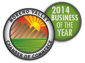 Moreno Valley Chamber of Commerce - 2014 Business of the Year Award