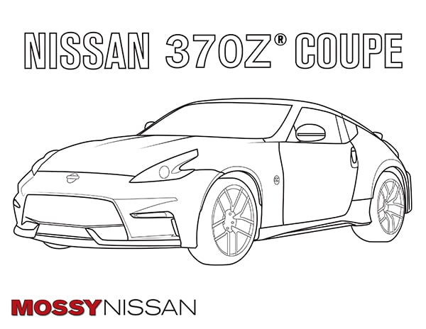 Mossy nissan370z coloring book kids gtr nissan san diego for Coloring pages nissan gtr