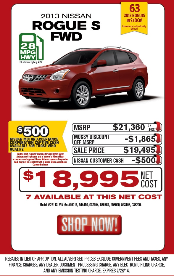 Mossy Nissan Used Cars