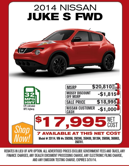 Mossy nissan careers for Mossy motors used cars