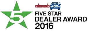 Edmunds 5 Star Dealer Award