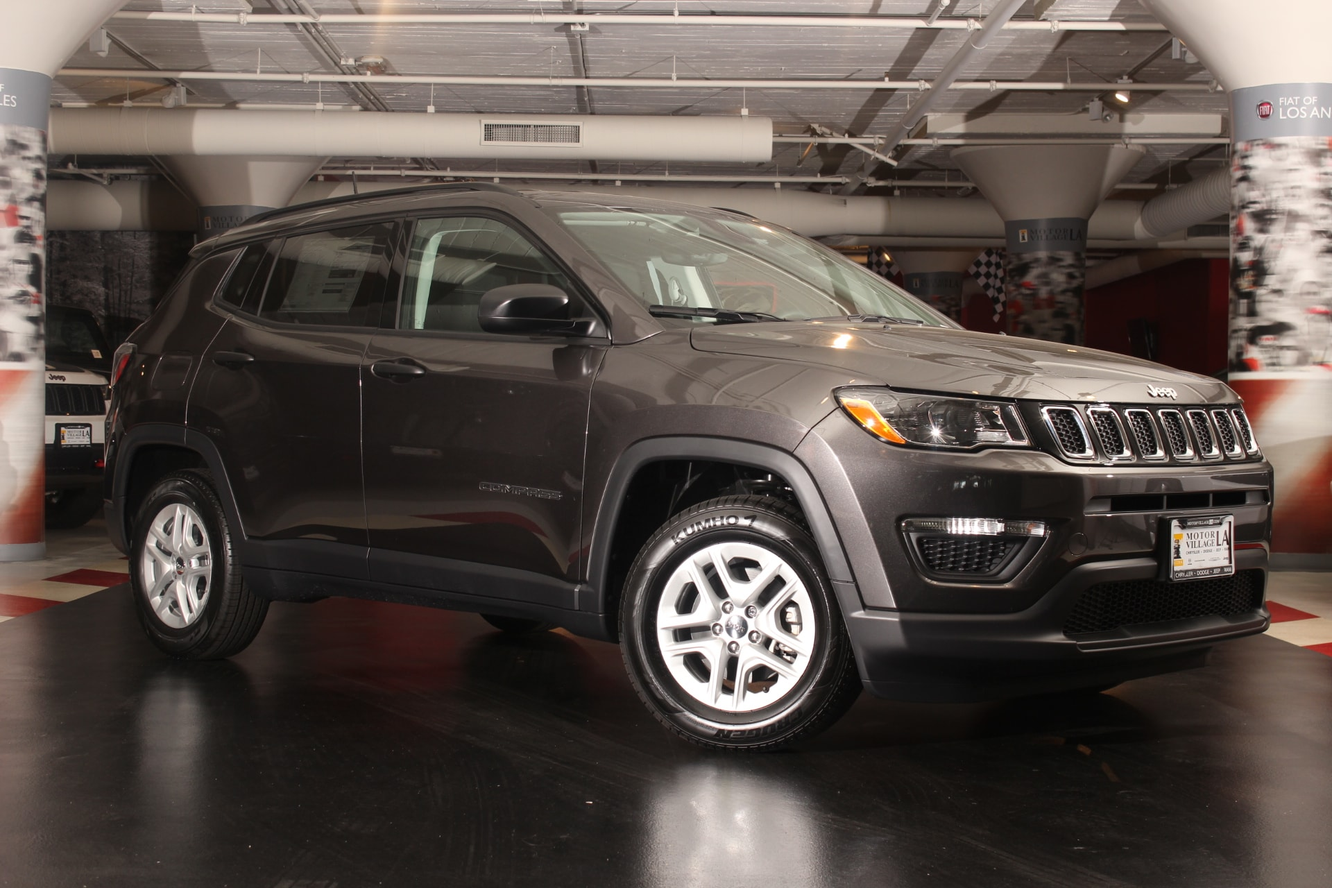 2017 Jeep New Compass Sport  50-State Emissions Black Side Roof Rails Cloth Low-Back Bucket Sea