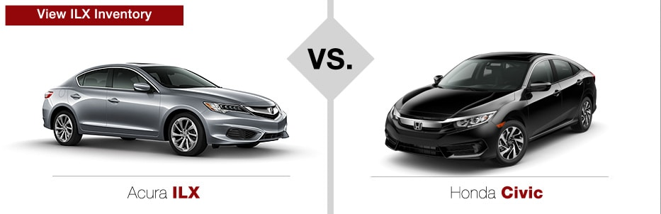 Acura vs honda comparison new acura tlx vs honda accord for Acura mdx vs honda pilot