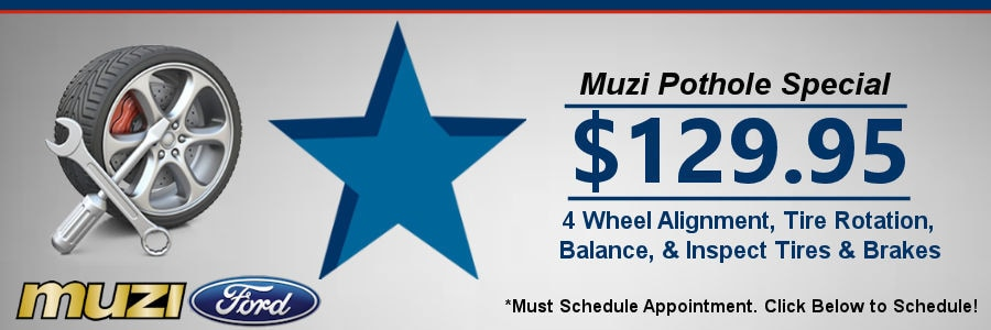 Ford Service Coupons Pothole Special At Muzi Ford