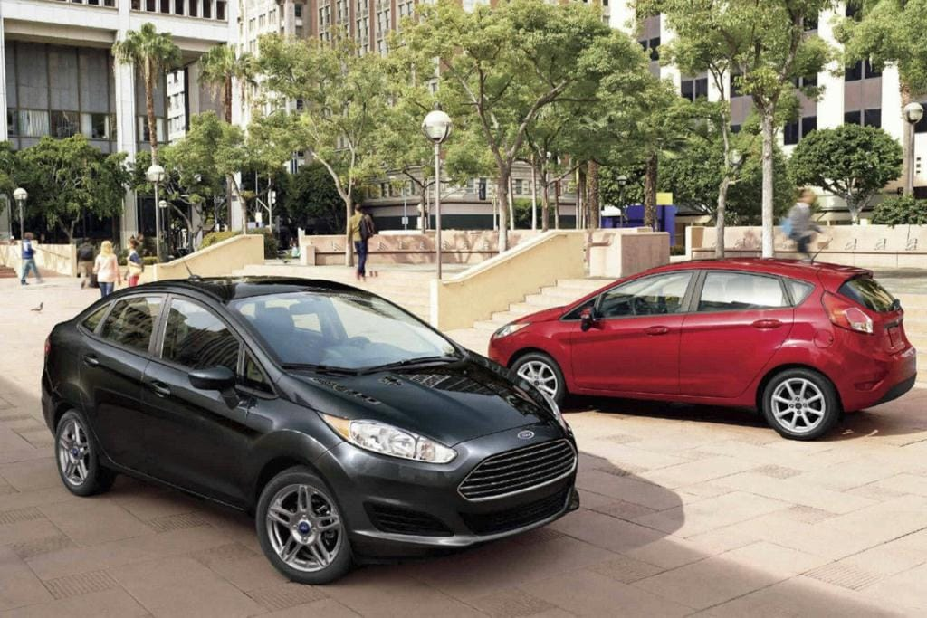 Black and Red Ford Fiestas