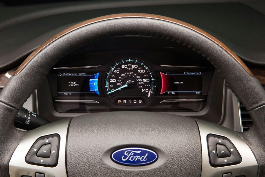 Ford Flex Leather-Wrapped Steering Wheel