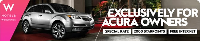 W Hotels Discount for Acura Owners