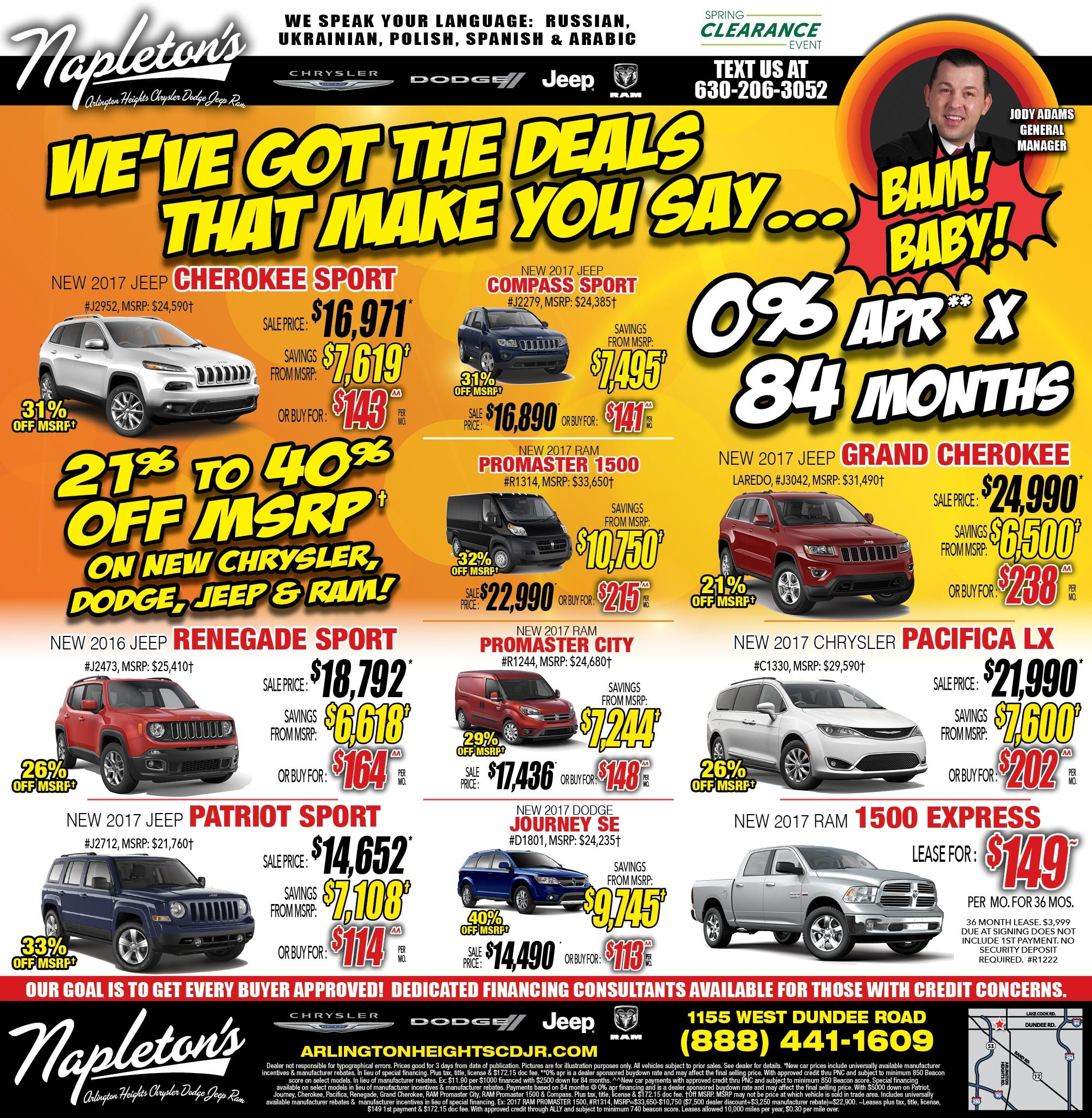 Weekly Specials Napleton S Arlington Heights Chrysler