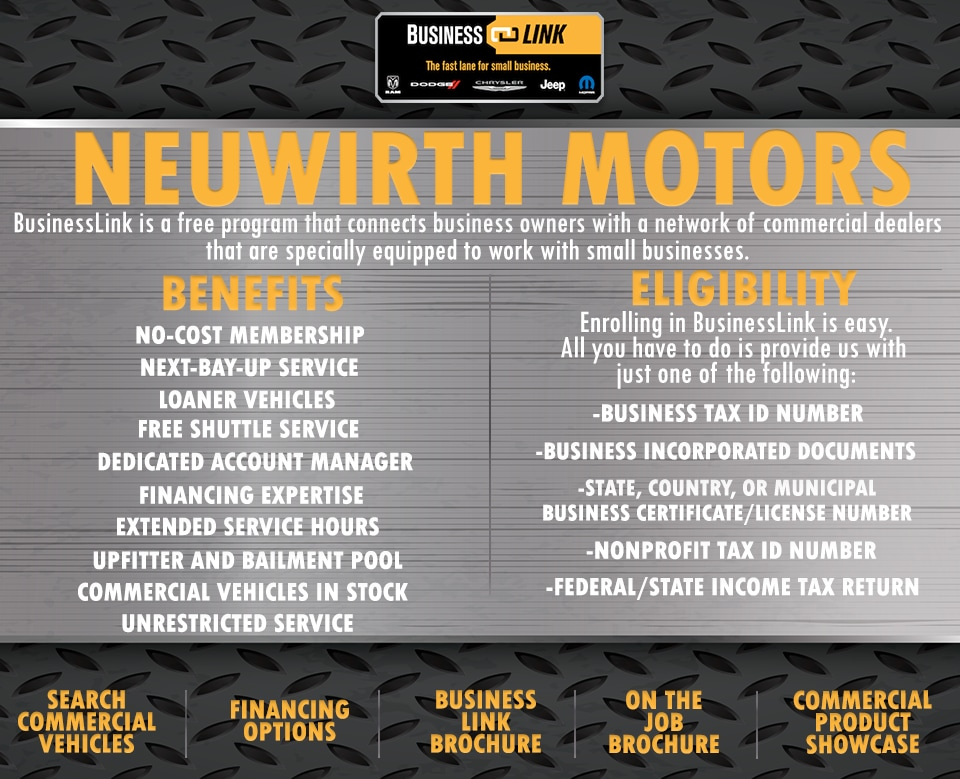 Business link neuwirth motors for Neuwirth motors service department