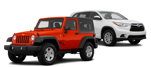 2015 Jeep Wrangler vs Toyota Highlander
