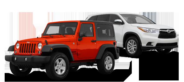 2015 Jeep Wrangler vs Toyota Highlander