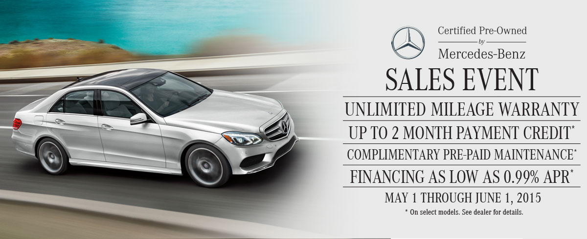 Certified pre owned sales event mercedes benz of palm for Mercedes benz certified pre owned sales event
