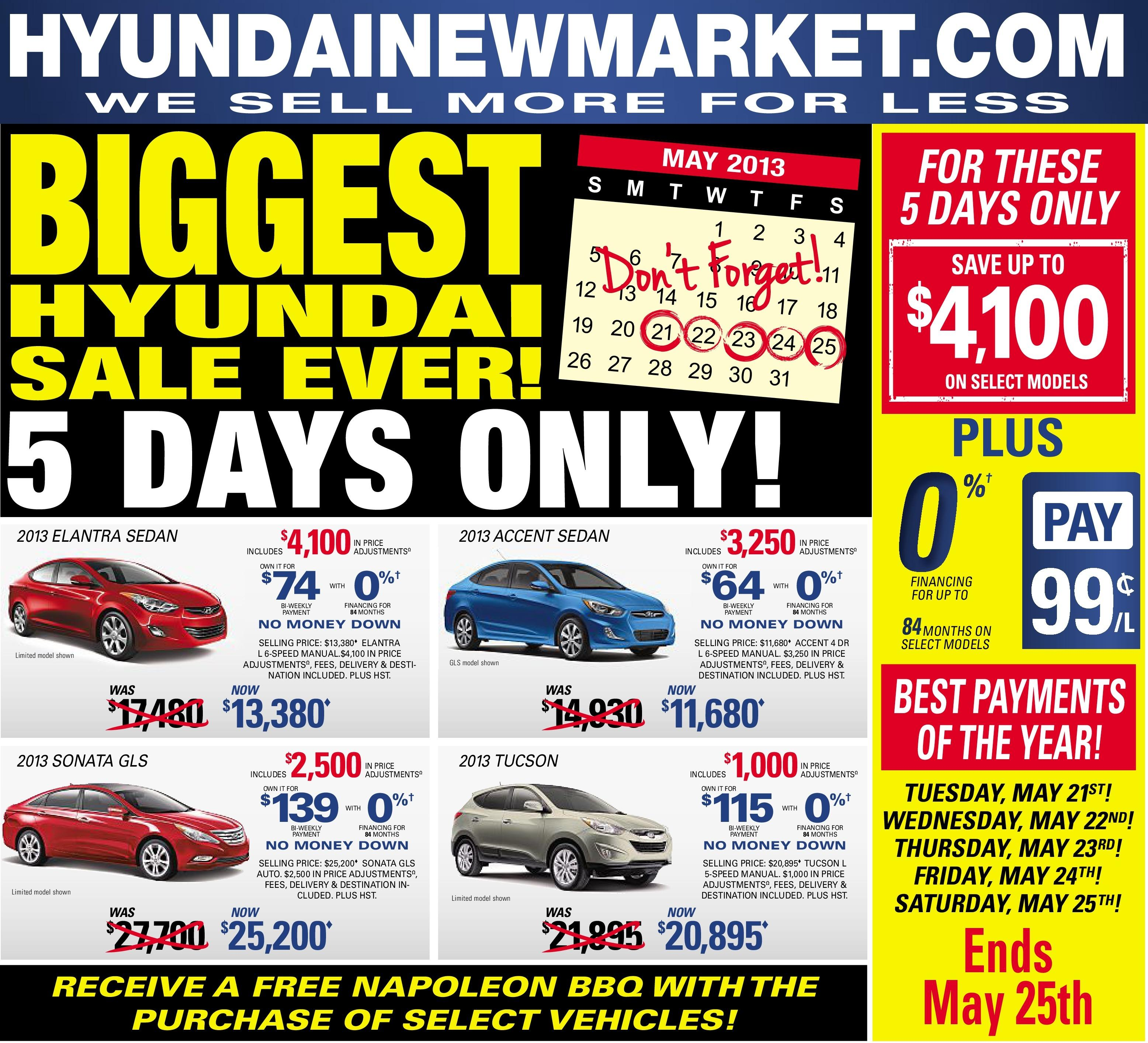Hyundai Biggest Sale Ever
