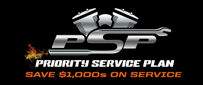 Priority Service Plan. Save $1,000s on Motorcycle Service