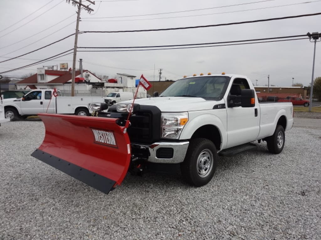 2012 Ford Super Duty F-250 with 8 foot Western Snow Plow Truck Regular Cab