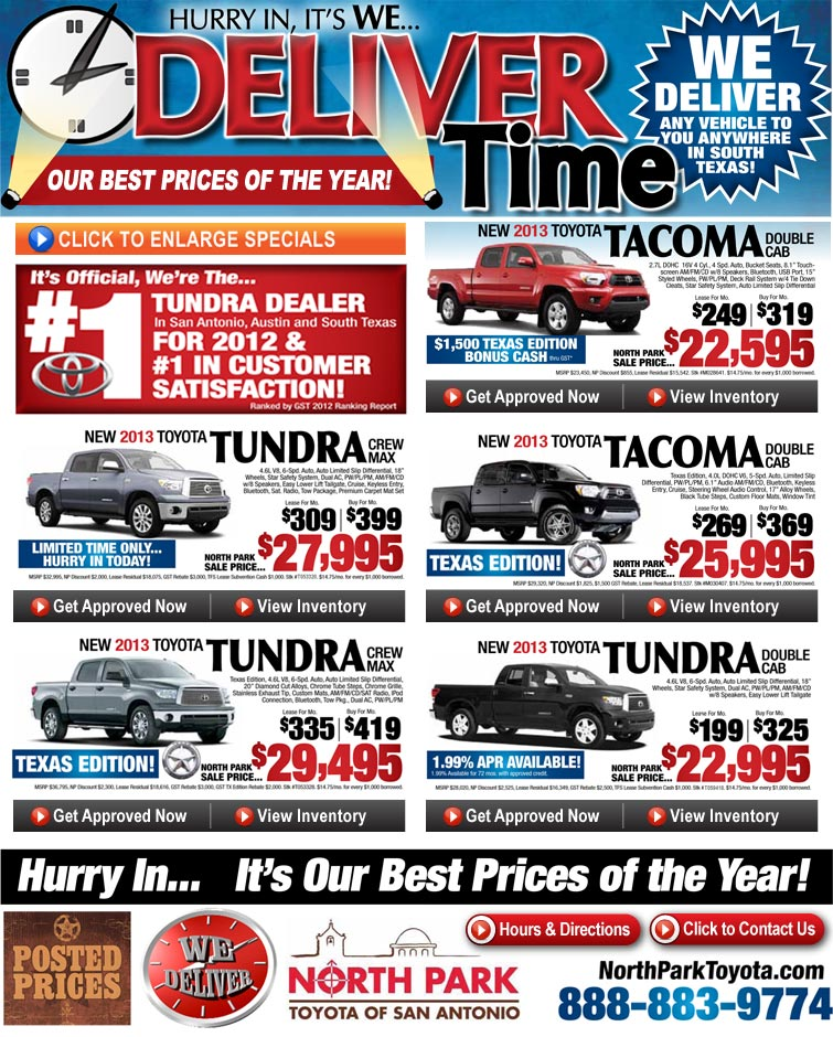 Toyota Truck Specials at North Park Toyota