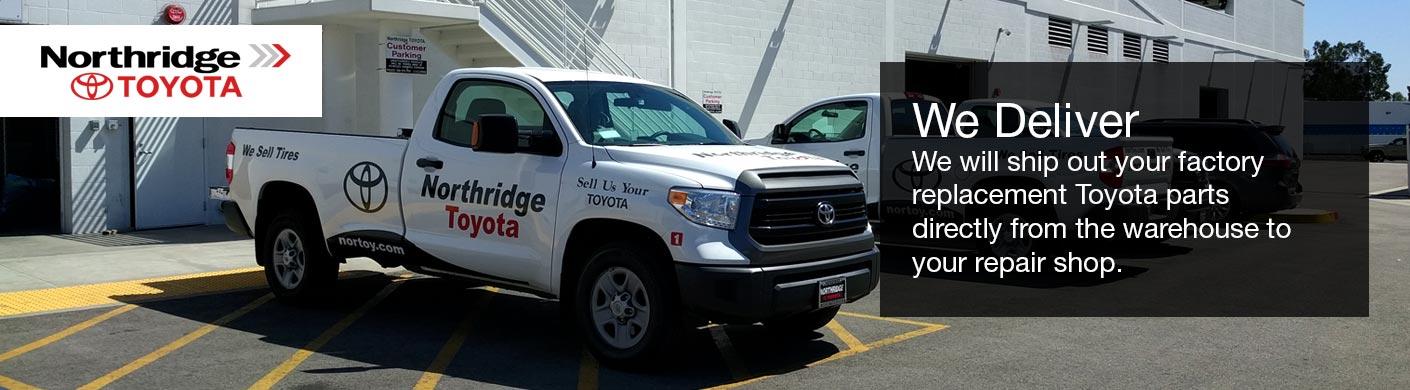 We deliver | Northridge Toyota Wholesale Parts serving Sun Valley